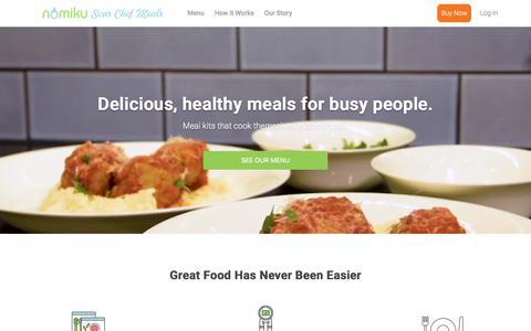 Screenshot of Home Page nomiku.com - Nomiku Sous Chef Meals - captured June 27, 2018
