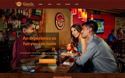 Screenshot of Home Page cahuillacasino.com - Cahuilla Casino | California Slot Machines | Bar and Grill - captured Oct. 1, 2014