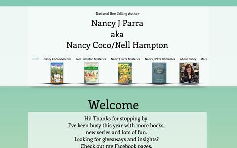 Screenshot of Home Page nancyjcoco.com - nancy parra nancy coco gluten free recipes cozy mysteries and fudge - captured April 24, 2018