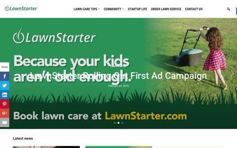 Screenshot of Blog lawnstarter.com - Lawnstarter - The LawnStarter Lawn Care Service Blog - captured Feb. 25, 2016