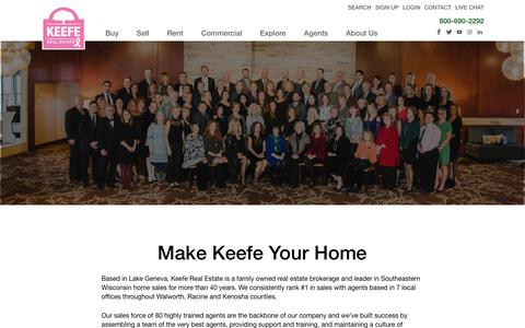 Screenshot of Jobs Page keeferealestate.com - Careers at Keefe Real Estate - captured Oct. 15, 2018