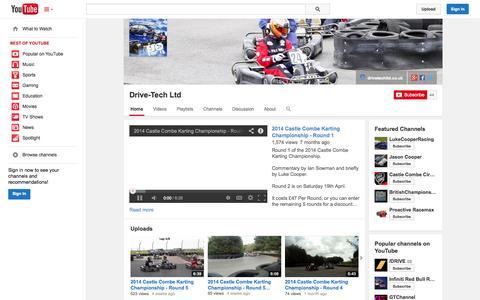 Screenshot of YouTube Page youtube.com - Drive-Tech Ltd  - YouTube - captured Oct. 23, 2014