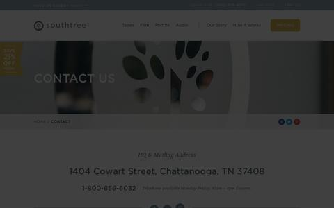Screenshot of Contact Page southtree.com - Contact Us | Southtree - captured Sept. 17, 2014