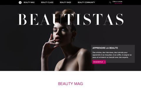 Screenshot of Home Page beautistas.com - BEAUTISTAS : Apprendre la beauté - captured Sept. 25, 2014