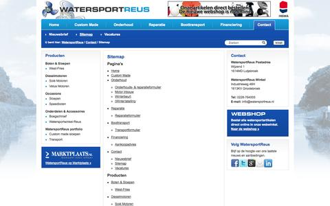 Screenshot of Site Map Page watersportreus.nl - Sitemap - WatersportReus WatersportReus - captured Oct. 7, 2014