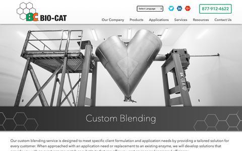 Screenshot of Services Page bio-cat.com - Custom Blending | BIO-CAT - captured Nov. 6, 2018