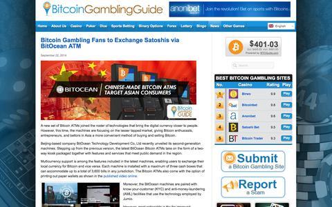 Screenshot of Press Page bitcoingg.com - Bitcoin Gambling News - captured Sept. 23, 2014