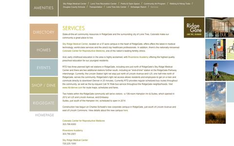 Screenshot of Services Page ridgegate.com - Services - captured Oct. 6, 2014