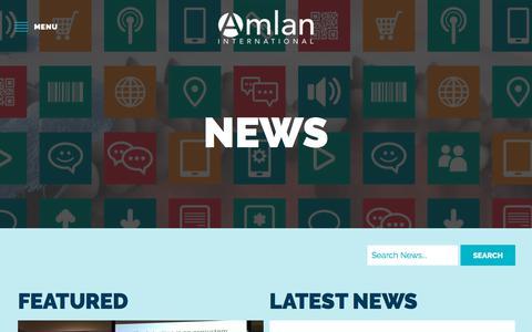 Screenshot of Press Page amlan.com - News - Amlan International - captured Oct. 8, 2017