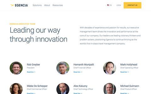 Screenshot of Team Page egencia.com - Executive Management Team | Egencia - captured Jan. 17, 2018