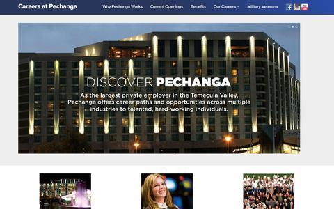 Screenshot of Jobs Page pechanga.com - Careers at Pechanga - captured Dec. 1, 2015
