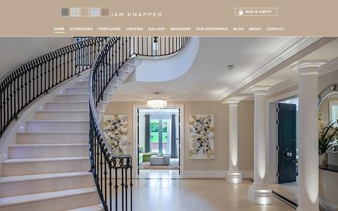 Screenshot of Home Page ianknapper.com - Contemporary Staircases, Modern Stairs & Staircase Design - captured Feb. 10, 2016