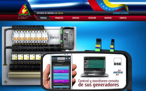 Screenshot of Home Page esesa.com - Sistemas de Energía, S.A. S.E.S.A - captured Oct. 4, 2014
