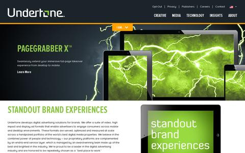 Screenshot of Home Page undertone.com - Undertone - captured July 17, 2014
