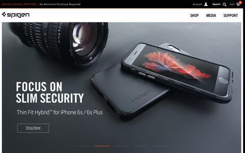 Screenshot of Home Page spigen.com captured Oct. 26, 2015