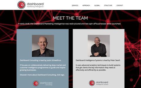 Screenshot of Team Page dashboard.co.za - Dashboard Marketing Intelligence Team - captured Feb. 17, 2019