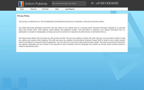 Screenshot of Privacy Page 5x5cm.com - 5x5cm Publicity - Easy to Sell, Best to Buy - Privacy%20Policy - captured Oct. 27, 2014