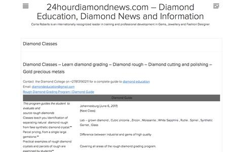 Diamond Classes | 24hourdiamondnews.com – Diamond Education, Diamond News and Information