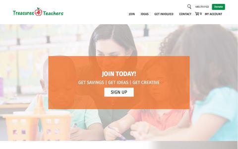 Screenshot of Signup Page treasures4teachers.org - Join - Treasures 4 Teachers - captured Nov. 7, 2017