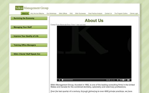 Screenshot of About Page silkinmanagementgroup.com - About Silkin Management Group | Silkin Management Group - captured Sept. 30, 2014