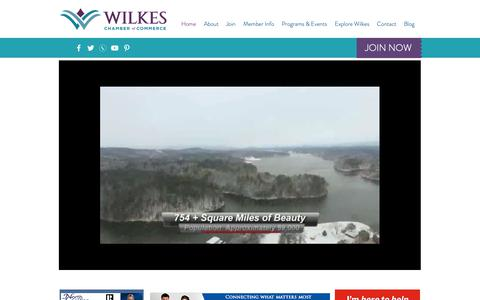 Screenshot of Home Page wilkeschamber.com - Wilkes Chamber of Commerce | North Wilkesboro | United States - captured May 30, 2019