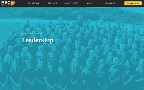 Screenshot of Team Page recsolar.com - Leadership | Commercial Solar Energy Solutions - captured Sept. 19, 2017