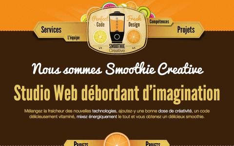 Screenshot of Services Page smoothie-creative.com - Home / Smoothie Creative - captured Oct. 26, 2014