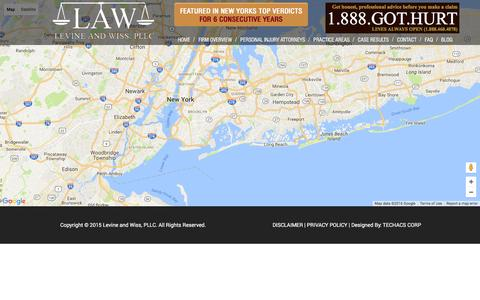 Screenshot of Maps & Directions Page lawpllc.com - Map - LAW - Levine and Wiss, PLLC - captured Nov. 7, 2016