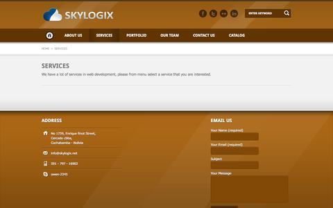 Screenshot of Services Page skylogix.net - Skylogix - captured Oct. 26, 2014