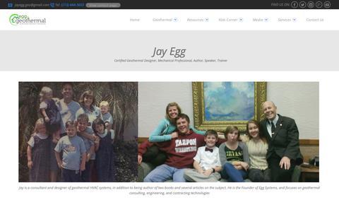 Screenshot of About Page egggeo.com - Jay Egg - Egg Geothermal - captured Nov. 27, 2018