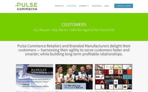 Screenshot of Case Studies Page Testimonials Page pulse-commerce.com - Mid-Market Order Management System: Pulse Commerce Customers - captured July 11, 2018