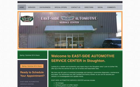 Screenshot of Home Page east-sideautomotive.com - East-Side Automotive - captured Oct. 1, 2014
