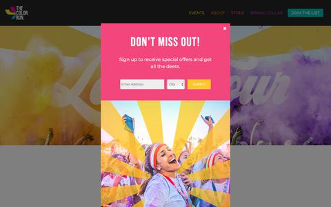Screenshot of Home Page thecolorrun.com - Home - The Color Run™ - captured Dec. 8, 2018