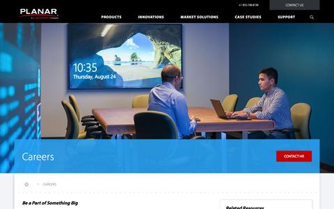 Screenshot of Jobs Page planar.com - Employment information, Careers and Available Positions at Planar | Planar - captured Nov. 7, 2017