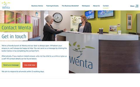 Screenshot of Contact Page wenta.co.uk - Contact us   Wenta - captured Sept. 20, 2018