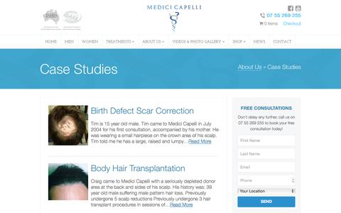 Screenshot of Case Studies Page medicicapelli.com.au - Case Studies - Medici Capelli - captured Jan. 9, 2016