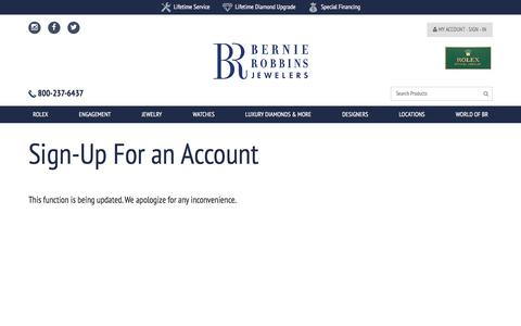 Screenshot of Signup Page bernierobbins.com - Process Login - captured Oct. 10, 2017