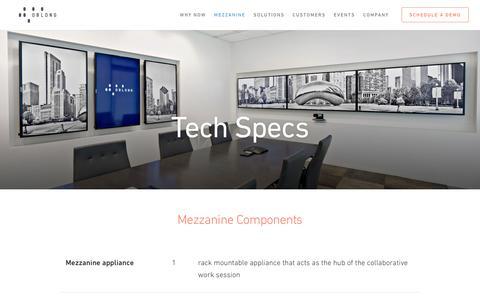 Tech Specs - oblong industries, inc.