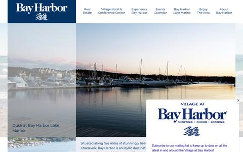 Screenshot of Home Page bayharbor.com - Bay Harbor Michigan, Petoskey, Charlevoix, Little Traverse Bay - captured Oct. 5, 2018