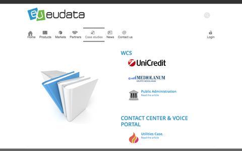 Screenshot of Case Studies Page eudata.biz - Eudata | Case studies - captured Sept. 30, 2014