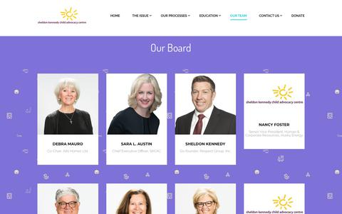 Screenshot of Team Page sheldonkennedycac.ca - Our Team – Sheldon Kennedy | Child Advocacy Centre - captured Oct. 18, 2018