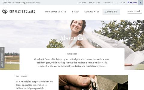 Screenshot of About Page charlesandcolvard.com - Our Ethical Promise and Endless Innovation | Charles & Colvard - captured July 9, 2017