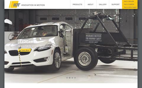 Screenshot of Home Page idtvision.com - High Speed Cameras for Industry Professionals - captured Sept. 7, 2015