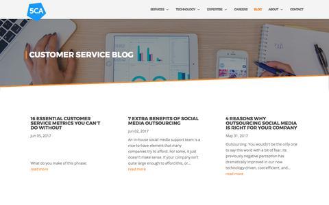 Screenshot of Blog 5ca.com - Customer Service Blog   5CA - captured June 18, 2017