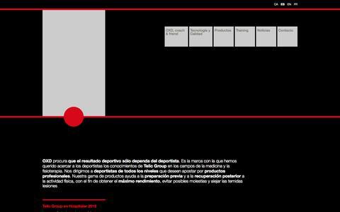 Screenshot of Home Page telic.es - División deporte - Telic - captured Sept. 18, 2015