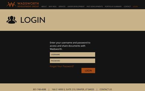 Screenshot of Login Page wadsdev.com - Wadsworth | Account - captured Oct. 27, 2014