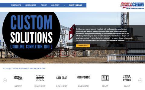 Screenshot of Home Page drillchem.com - Enhance Wellbore Operations | DrillChem - captured Jan. 21, 2015