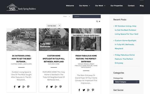 Screenshot of Blog sandyspringbuilders.com - Blog - Sandy Spring Builders - captured July 22, 2016