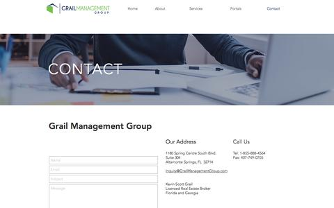 Screenshot of Contact Page grailmanagementgroup.com - grailmanagement | Contact - captured May 21, 2017