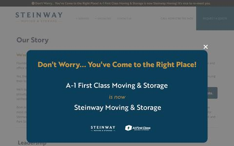 Screenshot of Team Page steinwaymovers.com - Steinway Moving & Storage | The Steinway Story - captured Nov. 9, 2018